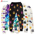 Sportlover 2016 New Fashion Emoji Joggers Sweatpants Nail/Rokets/Maple/Pistol/Alien/Fingers Trousers for women/men