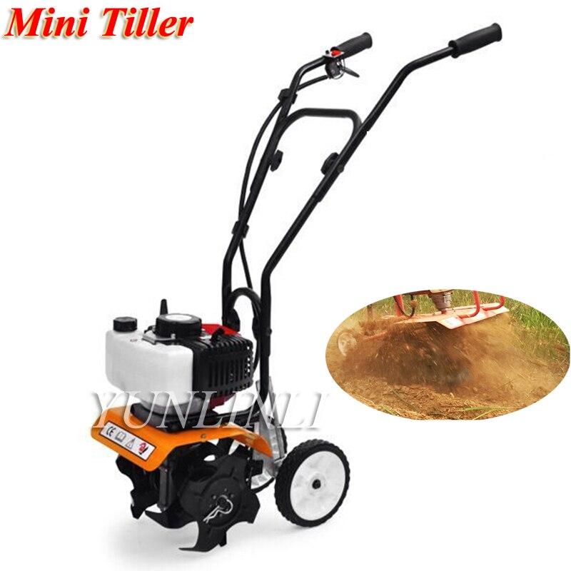 52cc Mini Tiller Garden Cultivator Rotary Hoe Tine Tiller 1650W Mini Cultivator Pro Machine For Soil Loosening Equipment 1E44F-5