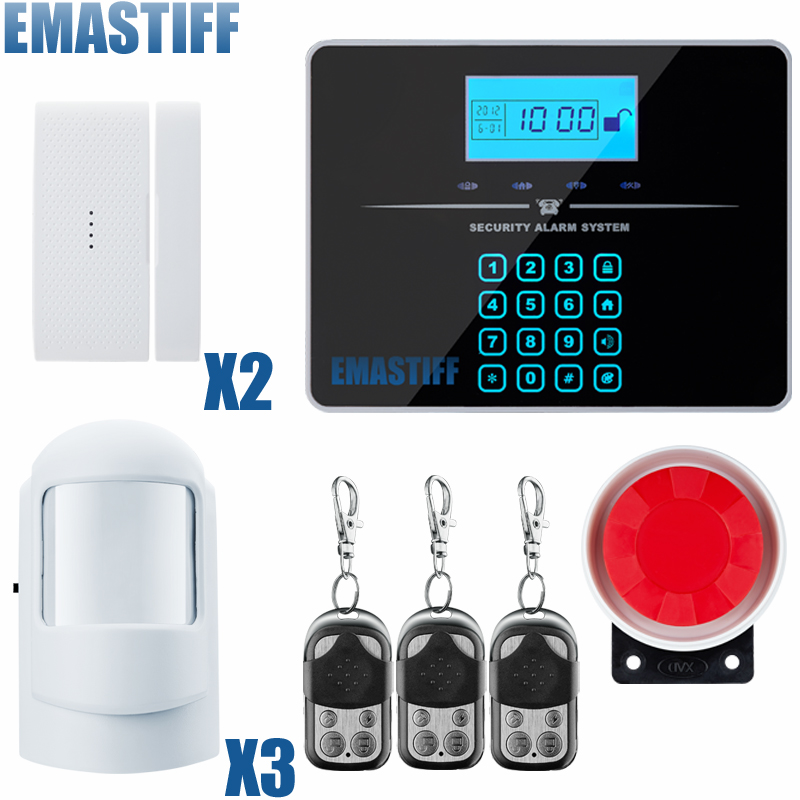 Wireless GSM PSTN Alarm System For Home security System with PIR/Door Sensor 850/900/1800/1900MHz Two Year Warranty wireless gsm alarm system for home wireless security alarm system with door sensor pstn alarm systems security