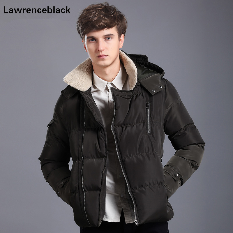 Lawrenceblack 2017 Polyester Winter Jackets And Coats Hooded Thick Warm Fashion Casual Handsome Men Parka Fit Snow Overcoat 821