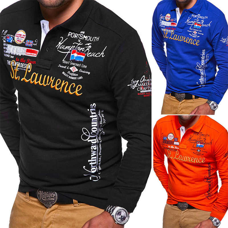5fa356006 ZOGAA Brand New Polo Shirt Men Long Sleeve Cotton Polyester Slim Fit Shirt  Full Sleeve Warm