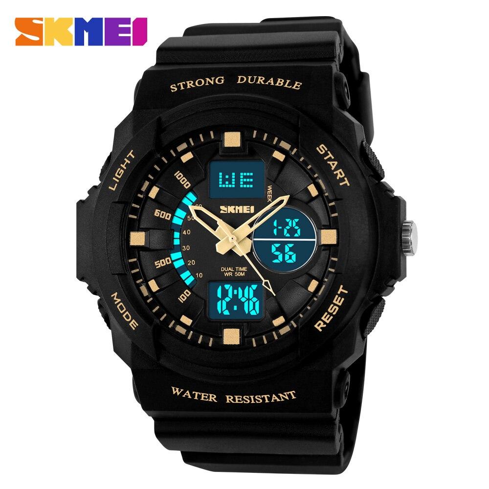 SKMEI Uomo Orologio Sportivo Digitale Al Quarzo 2 Tempo Countdown - Orologi da uomo