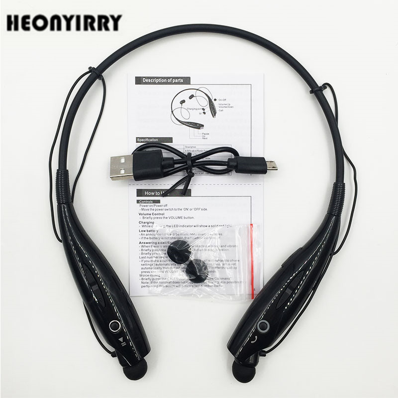 NEW HBS-730 Wireless Bluetooth Headphone Hands Free Sports Bluetooth Headset Neckband Earphone Stereo Headsets for Mobile Phone