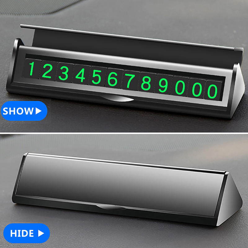 Image 4 - Hidden Car Temporary Parking Card Phone Number Sticker Drawer Hideable Luminous Telephone Number Plate Automobiles Accessories-in Ornaments from Automobiles & Motorcycles