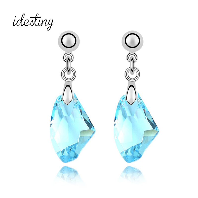 11,11 verano pendientes con Cristal de Austria nueva de lujo marcas de diseño de Cristal Colgante de Piedra mejor Bijoux regalo