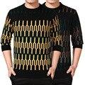 2015 Hot Sale Sólidos Vestido Camisolas Outono E Inverno Dos Homens Blusas cor de Idade Nova de Manga Longa Crewneck Camisola dos homens de Roupas venda