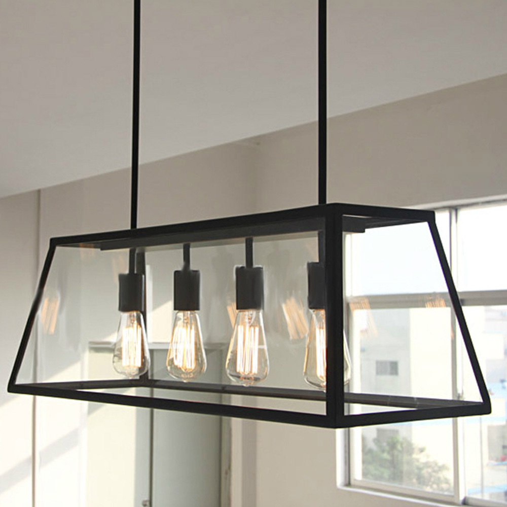 Online Shop Are Decor Iron Craft Nordic Vintage Industrial Style Pendant  Lights Loft E27 Edison Bulbs 4 Heads Room Hanging Lamps | Aliexpress Mobile