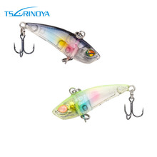 Trulinoya Fishing lure Mini Vibe lures with 40mm 3.8g oversized 3D eyes and treble hooks suit  for whole water layers VIBEs DW28