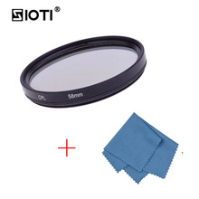 SIOTI 46/49/52/55/58/62/67MM CPL Circular Polarizer Filter with Cleaning Cloth for Canon for Nikon for Sony for DSLR Camera Lens zomei 49 52 55 58 62 67 72 77 82 86mm slim cpl circular polarizer filter for nikon canon olympus sony pentax camera lens filter