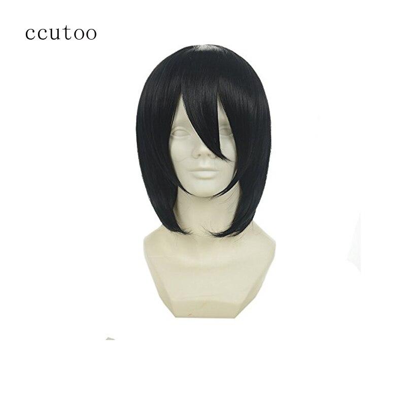 Ccutoo 14 Black Butler Себастьян Михаэлис Черный синтетические короткие волосы Косплэй парик ...