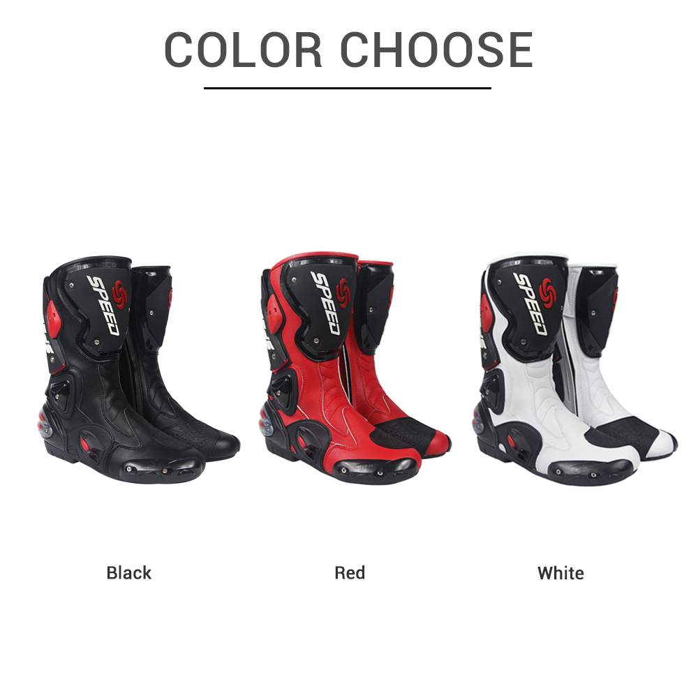PRO BIKER байкерские мотоциклетные ботинки для мужчин, мотогонок, мотокросса, внедорожных мотоциклов, мотоциклетная обувь, ботинки для верховой езды - 5