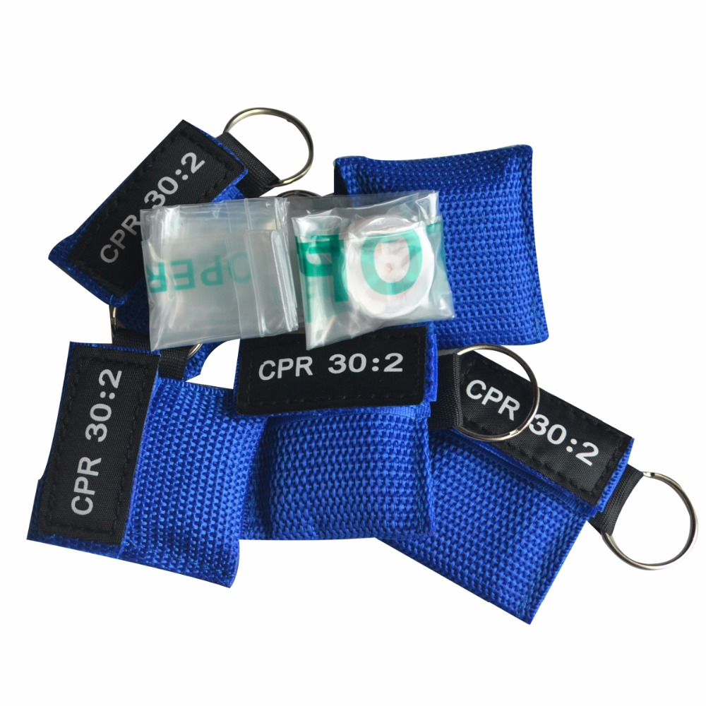 100Pcs Pack CPR Resuscitator Mask 30 2 CPR Keychain Emergency Face Shield First Aid CPR Mask