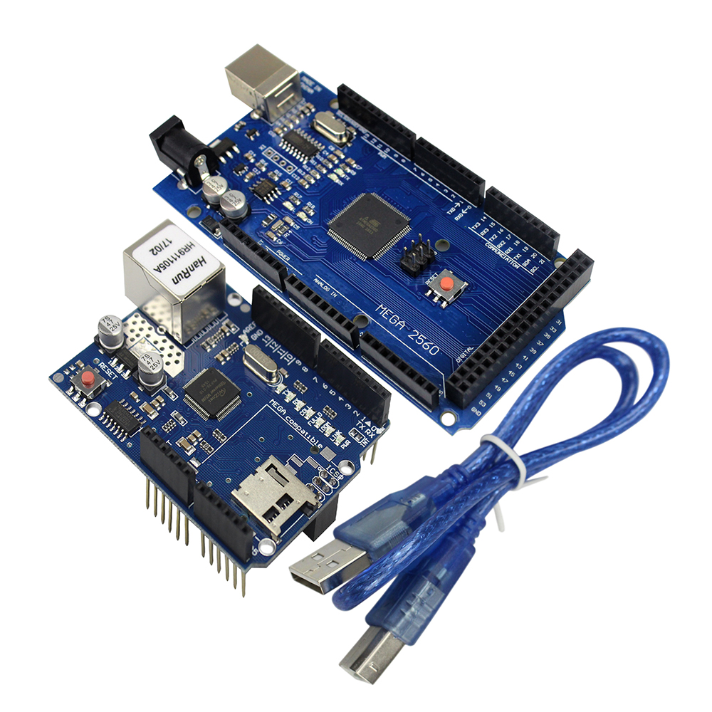 Free Shipping Ethernet W5100 Network Expansion Board SD Card Shield For Arduino With Mega 2560 R3