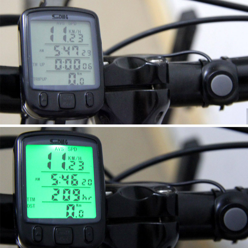 Waterproof Multifunction Cycling Computer Bicycle Speedometer Odometer LCD Backlight Backlit Bike Computer/Cycling stopwatch 1 lcd water resistant bike computer odometer speedometer black red 1 x cr2032