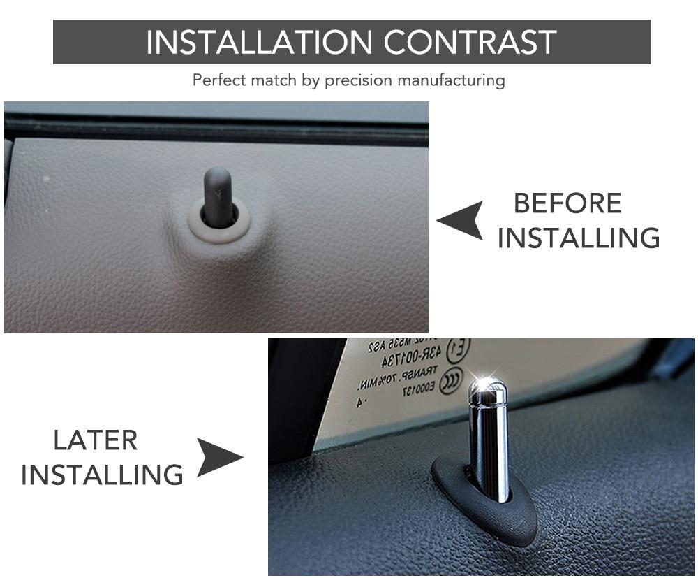 Image 3 - 4Pcs Car Door Lock Stick Pin Cap Trim For Chevrolet Cruze Trax Malibu for Opel Mokka ASTRA J Insignia Sport Tourer-in Car Stickers from Automobiles & Motorcycles