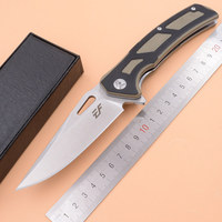 Eafengrow Made Viper ball bearing Folding D2 Steel G10 Camping Hunting Survival Outdoor EDC Tool Utility Kitchen Knife
