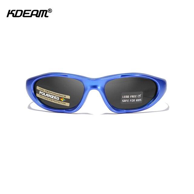 KDEAM lunettes de soleil polarisées sans plomb   Composite, lunettes de soleil pour enfants, garçons, filles et bébés de 2 à 10 ans, étui inclus