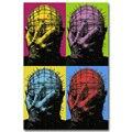HELLRAISER Art Silk Cartaz Impressão 13x20 24x36 polegadas Jason Voorhees Filme de Terror Clássico Retrato para Quarto Decoração da parede 005