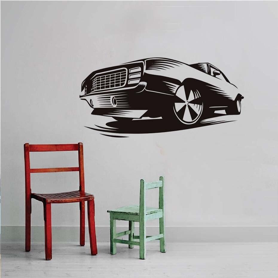 Muscle Car Vinyl Wall Sticker Home Decor For Kids Room Waterproof