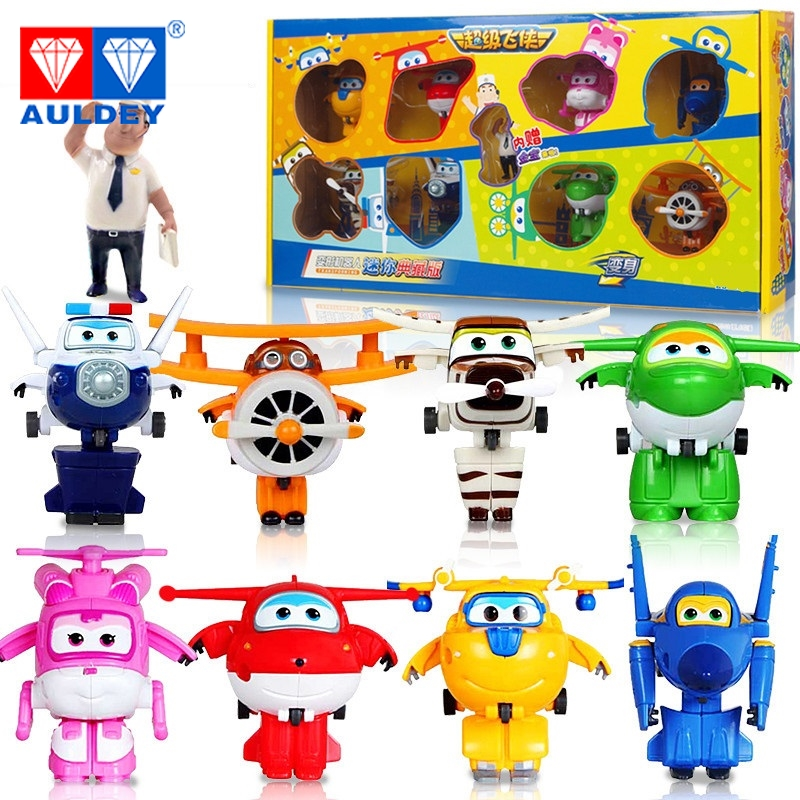 8pcs/set Mini Super Wings High Quality Original TODD PAUL JEROME ASTRA MIRA Deformation Action Figures Toys Children Gift Model newest 18pcs set super wings mini figures toys superwings jett airplane robot action figures birthday gift for kid brinquedos