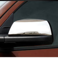 For Toyota Tundra Crew Max 08 15 Sequoia ABS Polish Chrome Side Rearview Mirror Cover Trim Sticker 2pcs/set