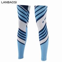 LANBAOSI Men Cycling Leg Warmers Sunscreen Mountain Bike Blue Bicycle Cycling Leg Sleeve Outdoor Anti UV