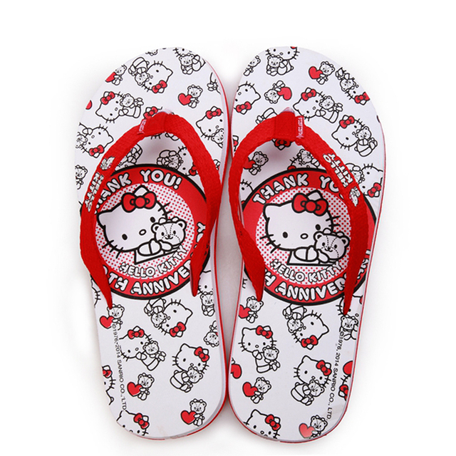 ef1ac700f Cartoon Anime Couple Flip Flops Hello Kitty Women Shoes Adult Shoes For  Women Slippers Students Lovely Sandals Men Women Shoes02