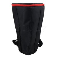 Yibuy Fabric Djembe Drum Carry Case Soft Gig Bag With Zipper Reinforced Shoulder Straps For 12