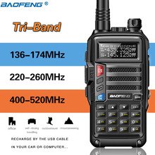 Tri Band Rádio BaoFeng UV S9 8W Alta Potência 136 174Mhz/220 260Mhz/400 520Mhz Walkie Talkie Amador Presunto Handheld Rádios Em Dois Sentidos