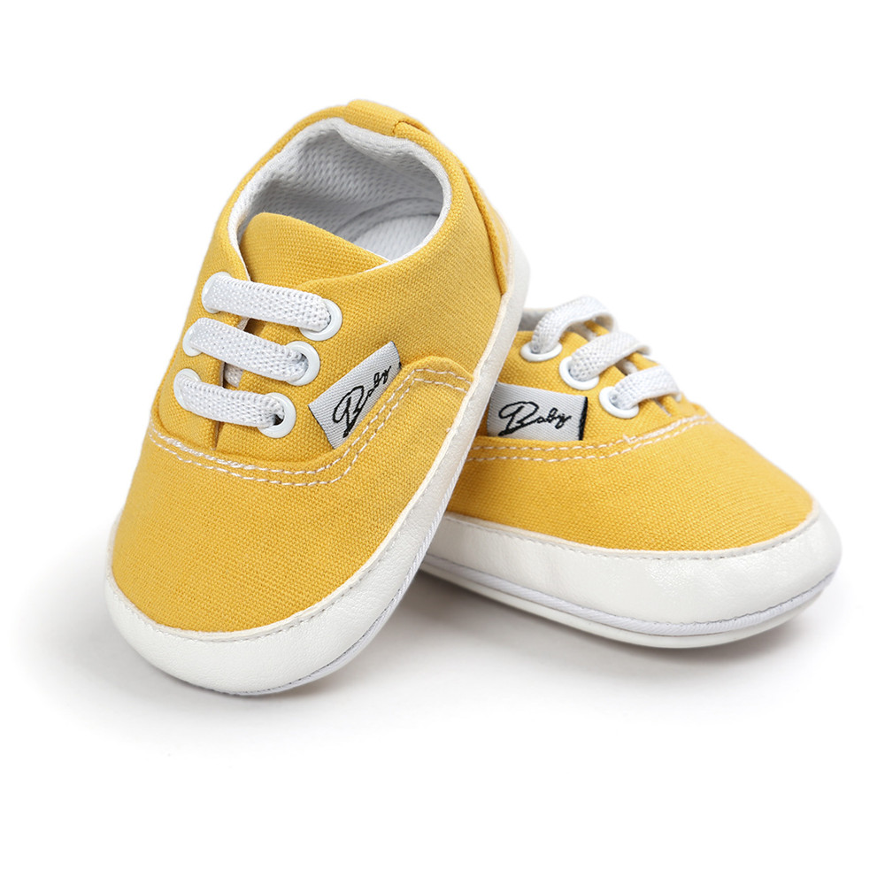 Casual Baby Boy Shoes 0-24M First Walkers Infant Moccasins Soft Sole Shoes Newborn Footwear Yellow Toddler Girl Shoes 12 Colors