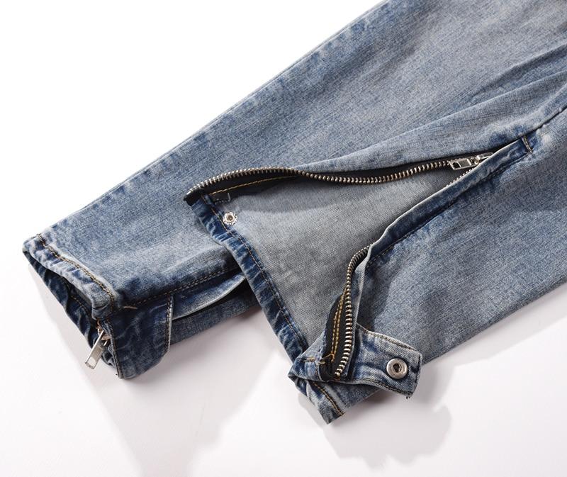 Hop Jogger Jeans Dieu West Pantalon Peur Long De Streetwear La Difficulté Kanye Femmes Hommes Bleu Hip 18ss En Denim nXqSFwg0