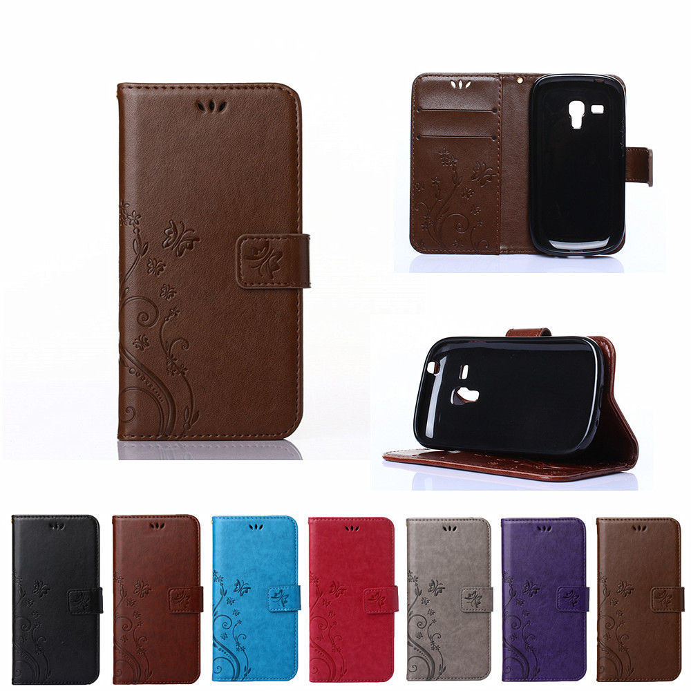Flip Case for Samsung Galaxy S 3 iii mini S3 Siii i8190 GT-i8190 GT-i8190L Value Edition VE i8200 GT-i8200 Phone Leather Cover