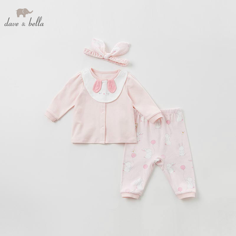 DBH10020 dave bella spring baby girl clothes fashion bear clothing sets lovely long sleeve suits children print clothes headbandDBH10020 dave bella spring baby girl clothes fashion bear clothing sets lovely long sleeve suits children print clothes headband