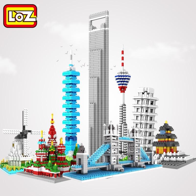 Loz Diy 3d Miniature Architecture Building Blocks Toys For