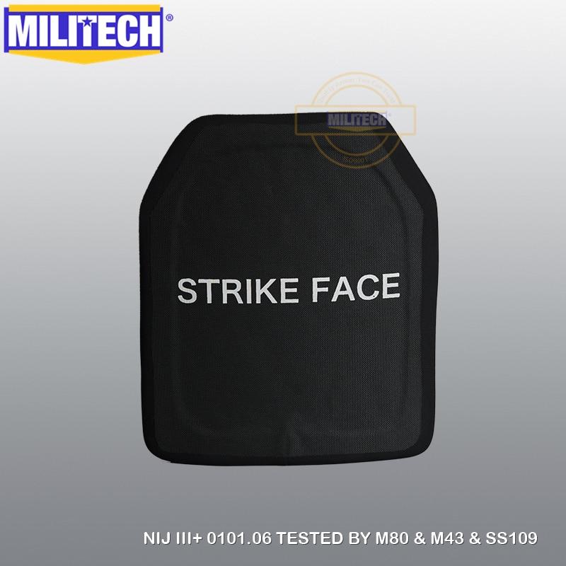 MILITECH SIC & PE NIJ Level III+ Bulletproof Plate NIJ Level 3 Plus Stand Alone Ballistic Panel NIJ 3 AK47 & SS109 & M80 Panel
