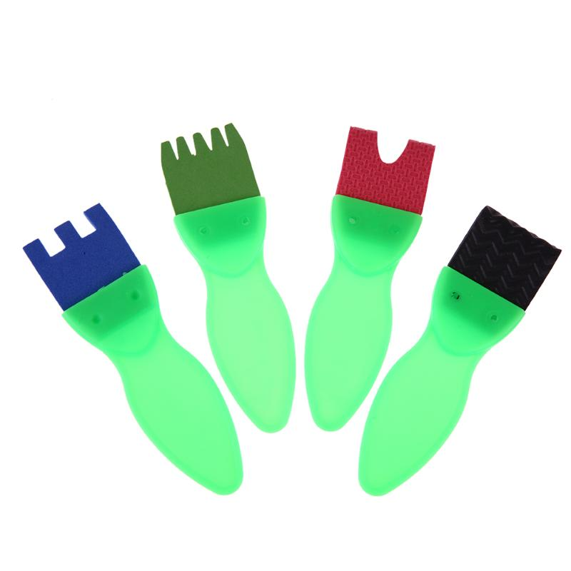 4pcs set DIY Painting Tools Kids Painting Sponge Brush Children Graffiti Plastic Handle Drawing Brush Drawing
