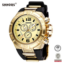Shhors Men Watch Waterproof Zinc Alloy Quartz Watches Military Wristwatch horloges mannen relojes