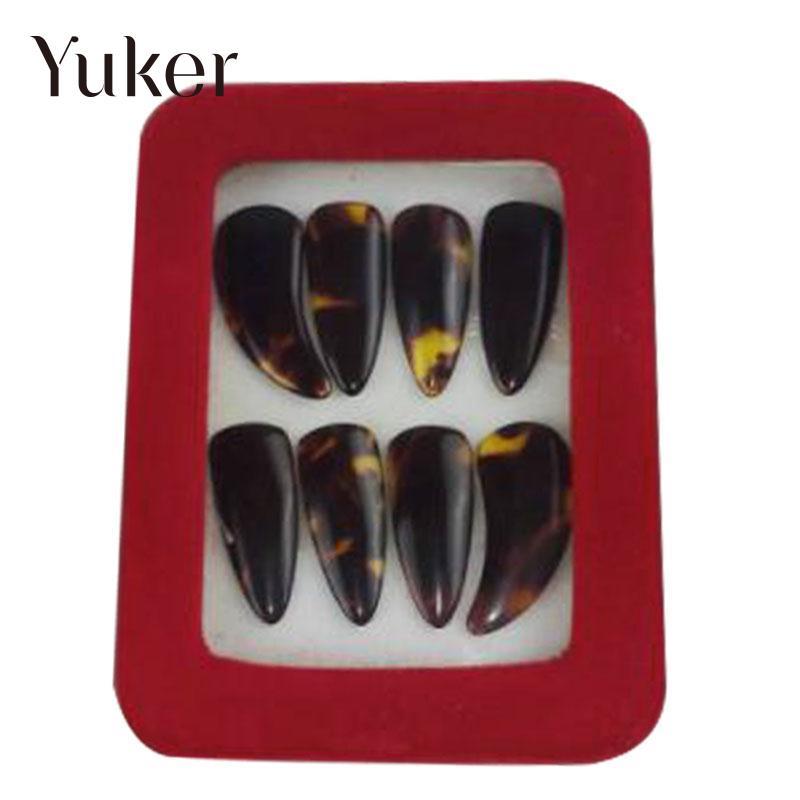8 גו 'נג Guzheng מרים יח'\סט ציפורניים אצבעות עם אביזרי כלי נגינה תיבת מעל המחרוזות