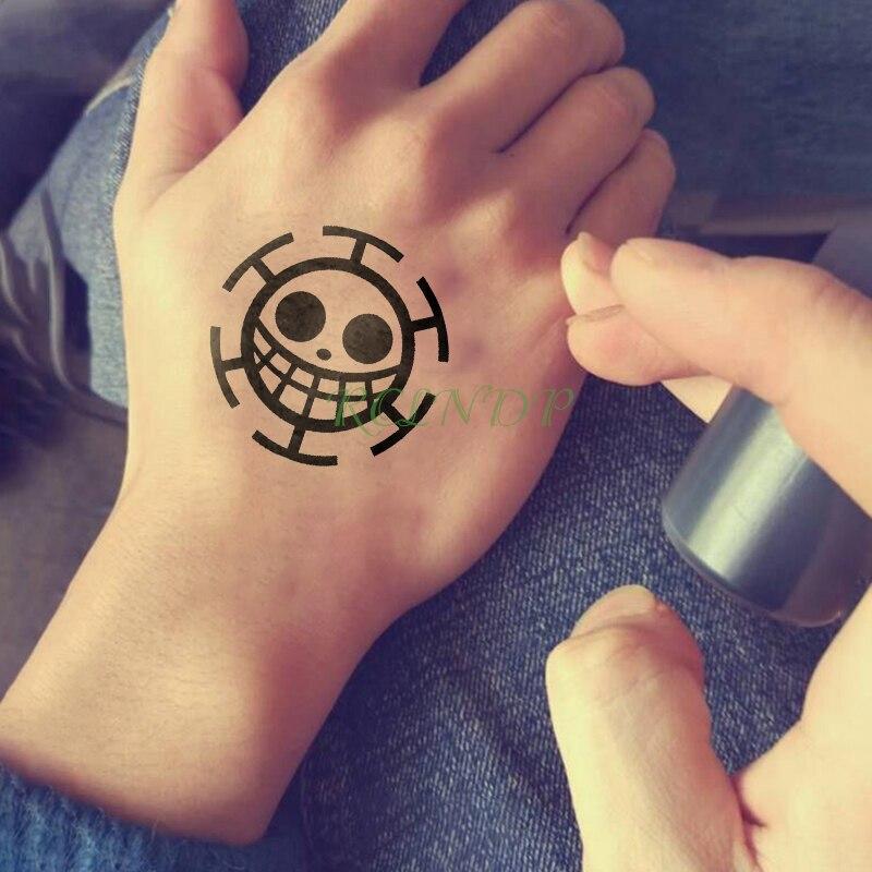 Waterproof Temporary Tattoo Sticker Anime Cartoon ONE PIECE Fake Tatto Flash Tatoo Tatouage Hand Foot Arm For Men Women Girl