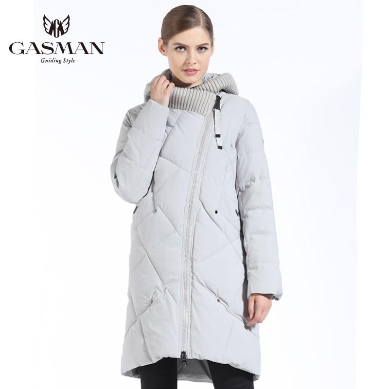 GASMAN 2019 New Winter Collection Fashion Thick Women Winter Bio Down Jackets Hooded Women Parkas Coats