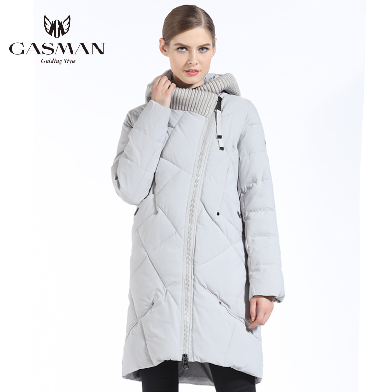 GASMAN 2018 New Winter Collection Fashion Thick Women Winter Bio Down Jackets Hooded Women   Parkas   Coats Brand Plus Size 5XL 6XL
