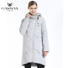 GASMAN 2019 New Winter Collection Fashion Thick Women Winter Bio Down Jackets Hooded Women Parkas Coats Brand Plus Size 5XL 6XL(China)