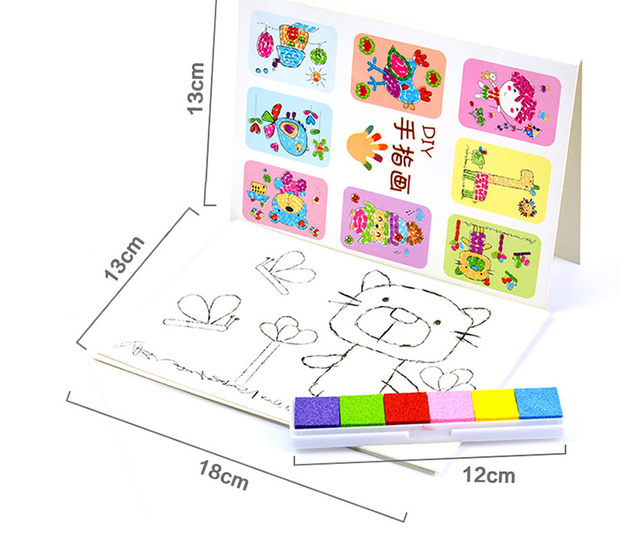 DIY 8 Unids Fingerpaint Pintura Craft Set Niños Coloridos Del Dedo ...