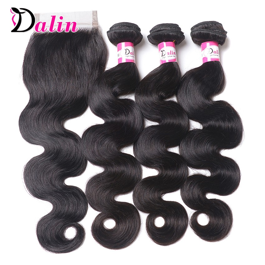 Brazilian Body Wave 3 Bundles With Closure Remy Brazilian Virgin Hair With Closure 7A Unprocessed Wavy Human With Lace Closure (8)