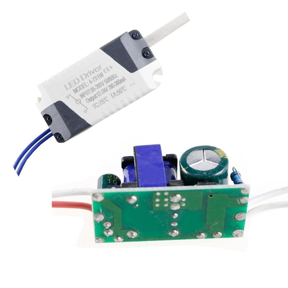 (4-7)x1W LED Driver External / inside 240mA-260mA DC12V ~ 24V Led Driver 4W 5W 6W 7W Power Supply AC 110V 220V for LED light