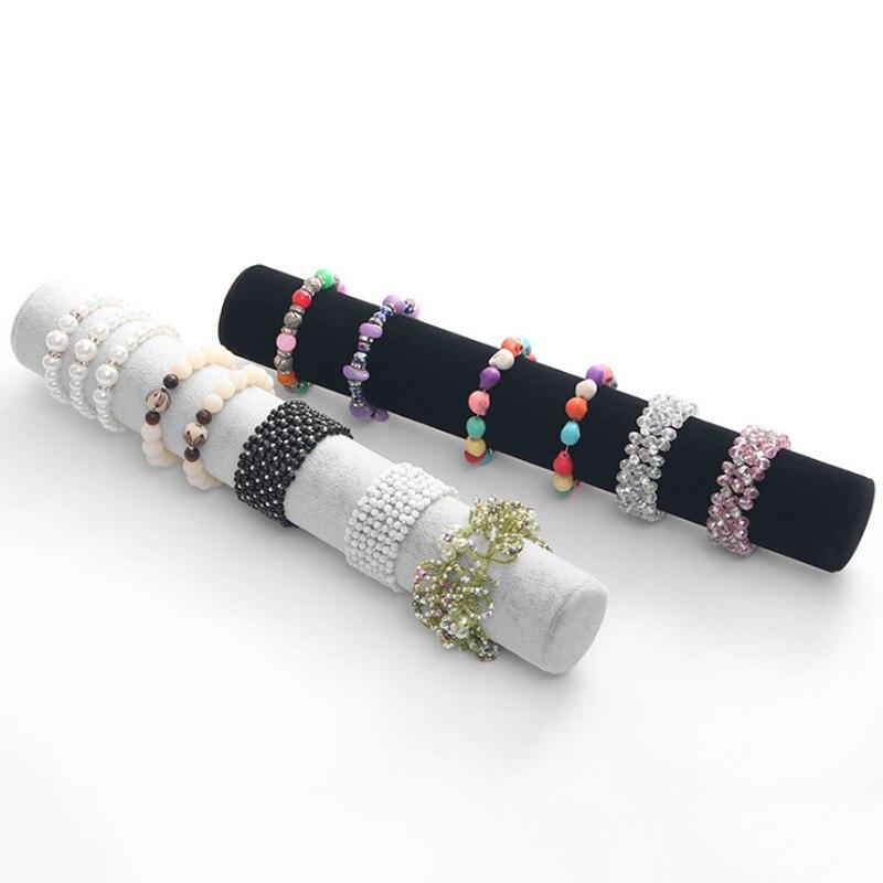 Mordoa Hot Selling Black Gray Velvet Bracelet Display Holder Jewelry Receiving For Bracelets Bangle Organizer Shelf Rack Stand