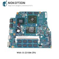 NOKOTION Laptop Motherboard For Sony Vaio PCG-41218M VPCSB A1820699A MBX-237 1P-0114J00-A011 MAIN BOARD I3-2310M CPU HD6470M