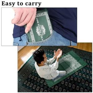Image 5 - 100x60cm Red Portable Prayer Rug Kneeling Poly Mat for Muslim Islam Waterproof Prayer Mat Carpet Blanket
