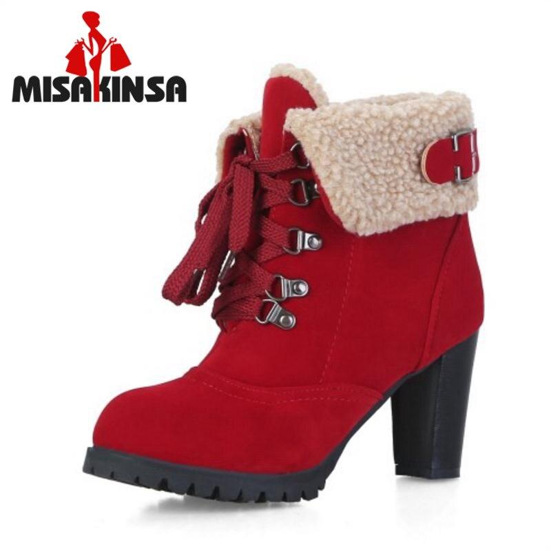 MisaKinsa Women Fashion High Heel Short Boots