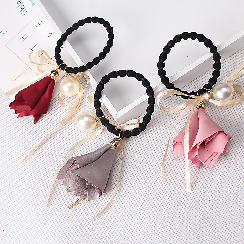 2018 Neue Design Morgen Blume Elastische Haar Band Stirnbänder Frauen Mädchen Haar Ornament Schönheit Floral Gum Für Haar Scrunchy Klar Und GroßArtig In Der Art